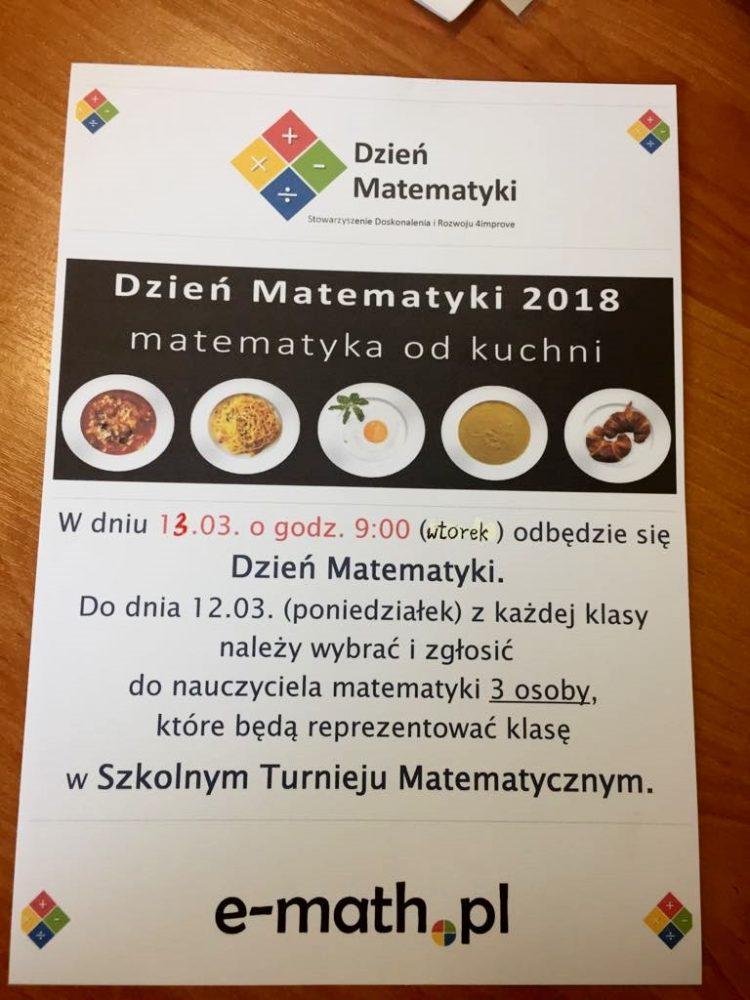 Dzień Matematyki 2018