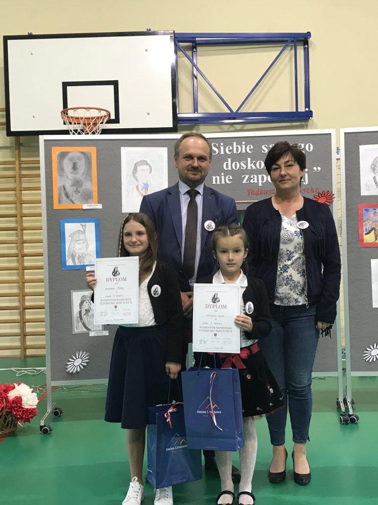 Dwa I miejsca w Gminnym Konkursie Plastycznym o Tadeuszu Kościuszce 29.05.2019