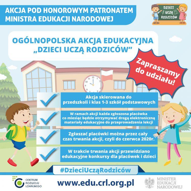 """Ogólnopolska akcja edukacyjna ,,Dzieci uczą rodziców"""""""