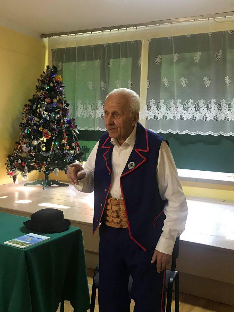Spotkanie z gawędą Pana Stanisława Ptaszka w Szkole Podstawowej w Kaninie