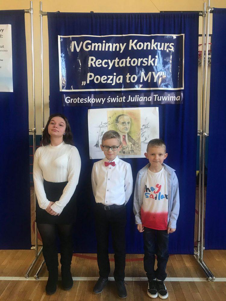 """IV Gminny Konkurs Recytatorski ,,Poezja to My"""""""""""