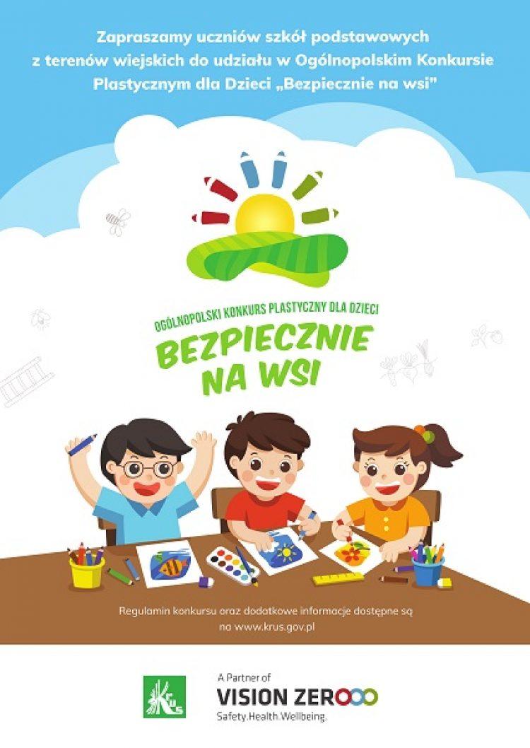 """X Ogólnopolski Konkurs Plastyczny dla Dzieci pod hasłem """"Bezpiecznie na wsi: nie ryzykujesz, gdy zwierzęta znasz i szanujesz"""" rozpoczęty"""