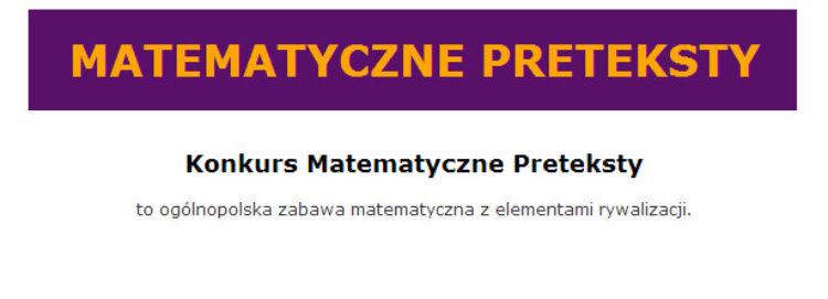 Konkurs Matematyczne Preteksty -wyniki