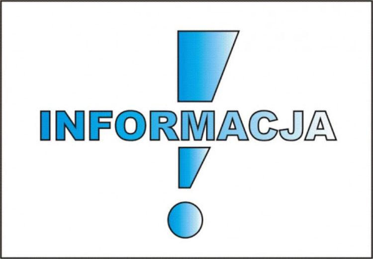 Informacja od Pani Dyrektor mgr Haliny Śmierciak