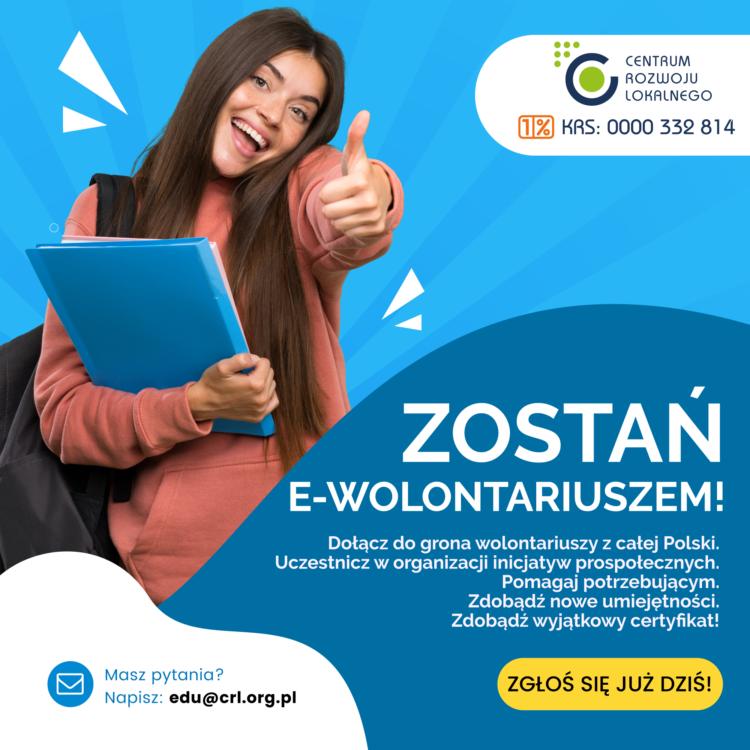 """,,E-wolontariat""""- Samorząd uczniowski poleca"""