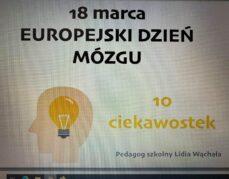 18 marca Europejski Dzień Mózgu.
